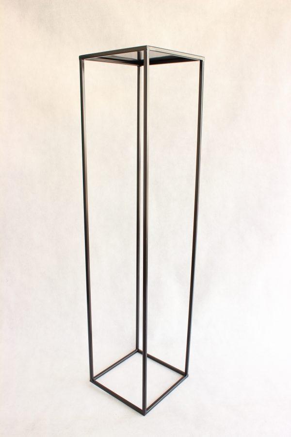 Metalowy Kwietnik-LOFT Industrialny kolor czarny wys. 100 cm