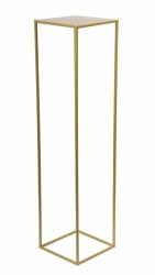 nowoczesny pojedynczy kwietnik loft kolor złoty