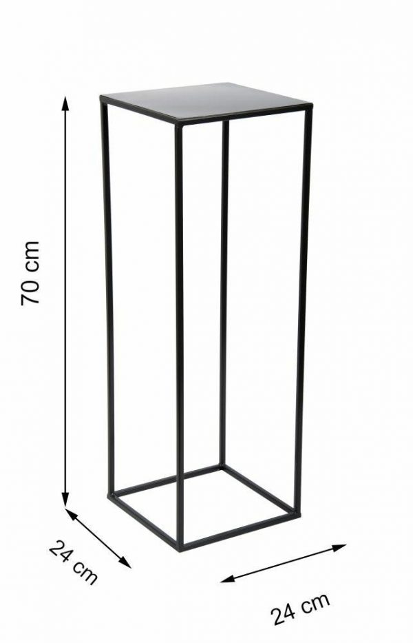 metalowy kwietnik LOFT kolor czarny