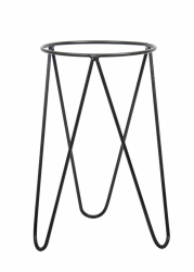 nowoczesny pojedynczy kwietnik loft kolor czarny