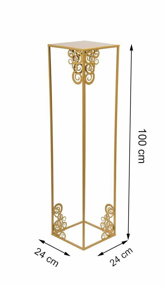metalowy kwietnik LOFT kolor złoty