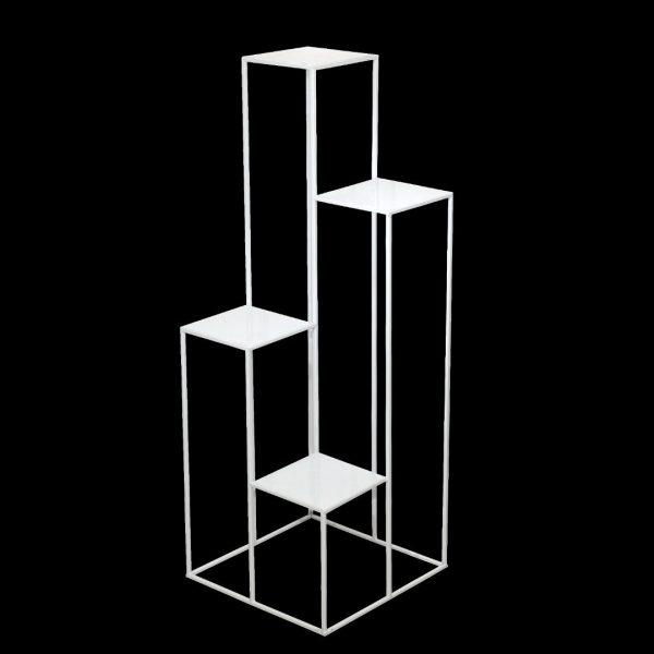 kwietnik stojący metalowy na 4 donice