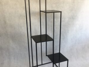 kwietnik loft na 4 donice kolor czarny