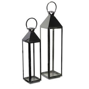 latarnie z czarnej stali chromowej