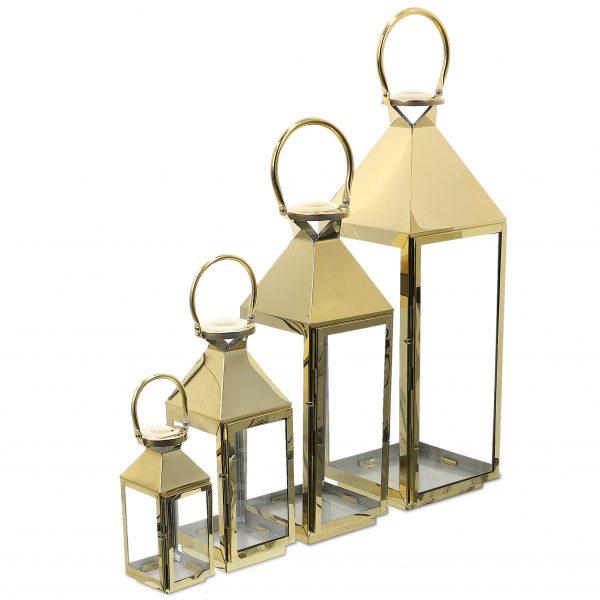 latarnie ze złotej stali chromowej