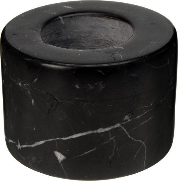 świecznik czarny marmur