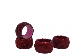 Pierścienie na serwetki czerwone 4 cm