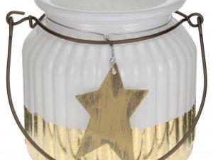 lampion biało-złoty