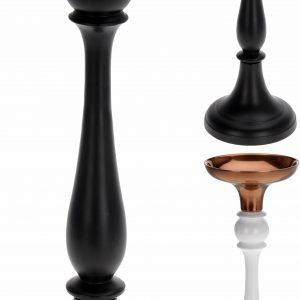 świecznik czarno-złoty
