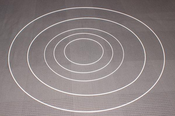 Obręcz ,koło metalowe białe