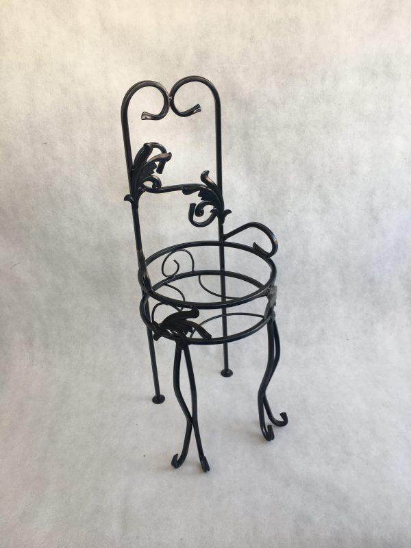 kwietnik krzesełko kolor czarny