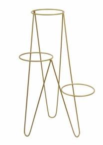 nowoczesny-potrojny-kwietnik kolor złoty