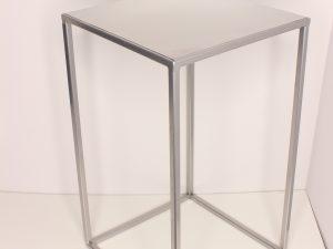 Metalowy Kwietnik-LOFT Industrialny kolor srebrny wys. 40 cm