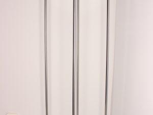 srebrny kwietnik loft na jedną donice wys 100 cm
