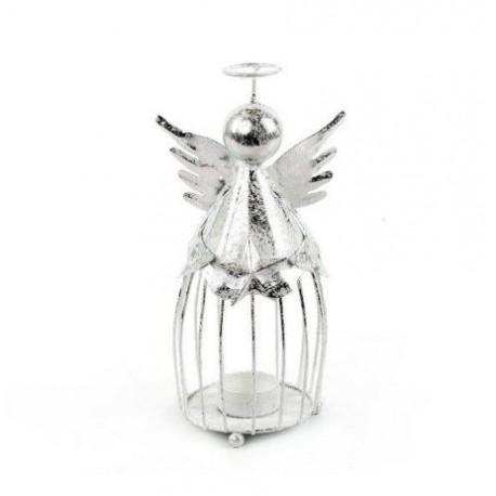 metalowy anioł -świecznik
