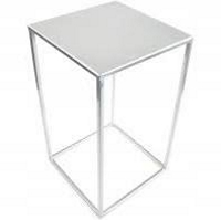 stojak kwietnik metalowy loft kolor srebrny