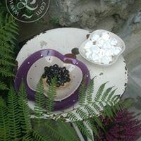 Ceramiczny talerzyk w kształcie jabłka kolor fioletowy