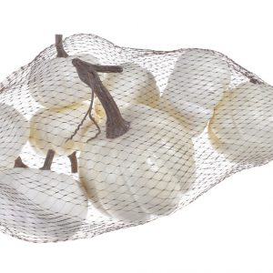 sztuczne dynie kolor biało-kremowe 8 szt
