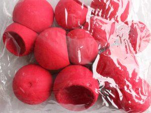 Bell cup - susz egzotyczny, farbowany czerwony 12szt