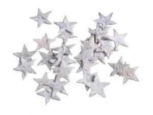 Brzozowe gwiazdki wybielane 2,5cm, około 150szt/pacz.