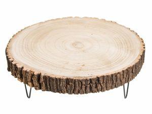 Podstawka drewniana na 3 nogach 35 cm