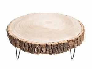 Podstawka drewniana na 3 nogach 30 cm