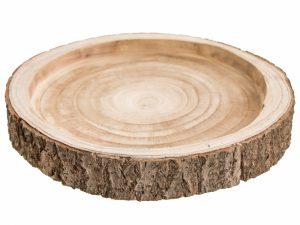 Drewniana Taca, Plaster Drzewa 32,5 cm