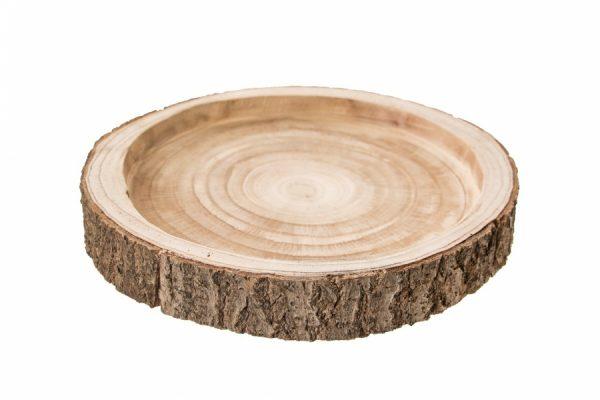 Drewniana Taca, Plaster Drzewa 25 cm
