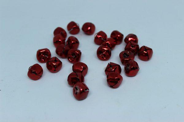 Mini dzwoneczki czerwone ozdobne dekoracja bożonarodzeniowa 24 szt