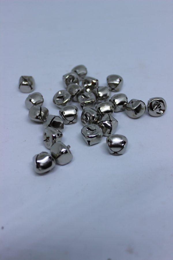 Mini dzwoneczki srebrne ozdobne dekoracja bożonarodzeniowa 24 szt