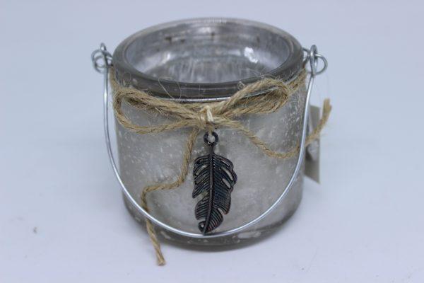 Świecznik świąteczny na małe świeczki tealighty wys 7 cm