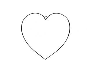 serce obręcz metalowe czarne