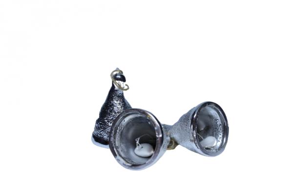 Dzwoneczki srebrne ozdoba na choinkę