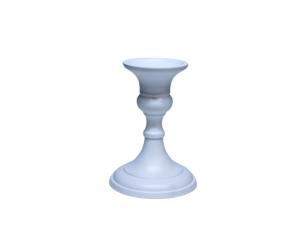Świecznik metalowy kolor biały wys 10 cm
