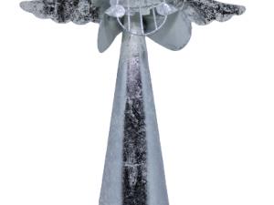 Figurka Anioła wykonana z metalu dekoracja bożonarodzeniowa wys 31 cm
