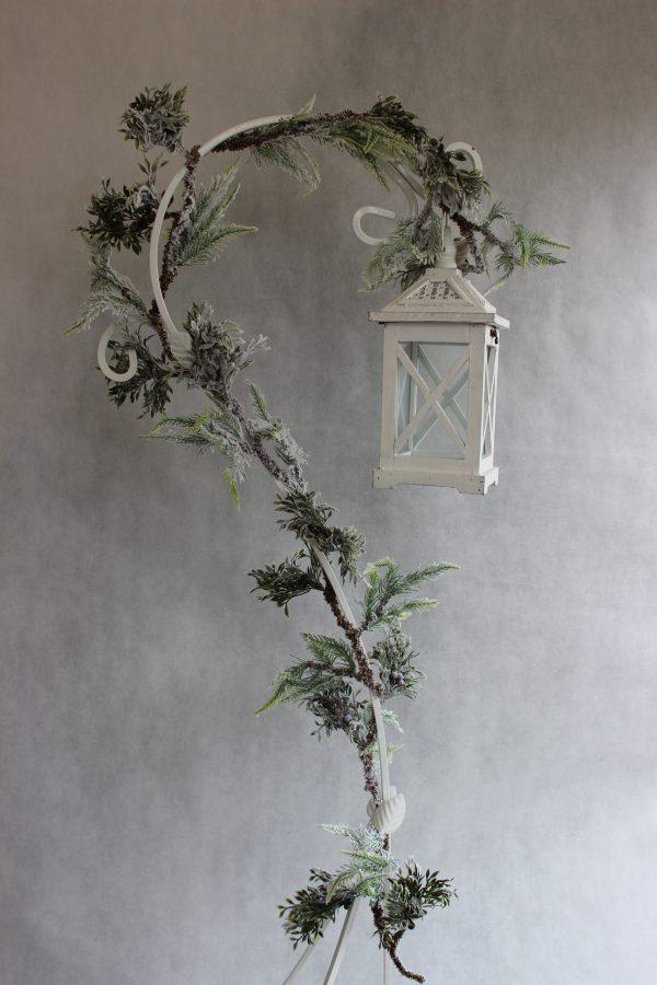Girlanda ośnieżona z szyszkami ozdoba bożonarodzeniowa 180 cm
