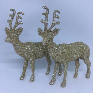 renifery świąteczne brokatowe złote