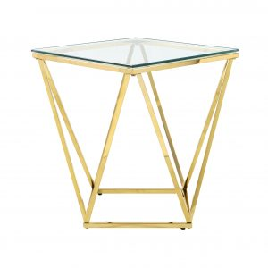 Stolik kawowStolik kawowy diament GLAMOUR złoty wys 55,5 cmy diament GLAMOUR złoty wys 55,5 cm
