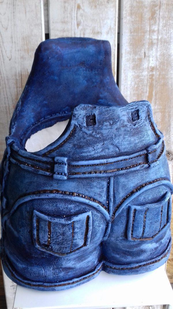Donica ceramiczna w kształcie spodni wys 35 cm