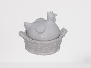 Kura ceramiczna biała - ozdoba wielkanocna