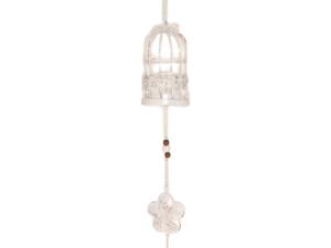 Lampion klatka dla ptaków metalowa kolor biały wys 70 cm