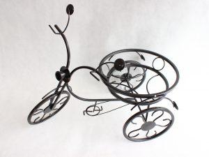 Kwietnik rower metalowy czarny wys 39 cm