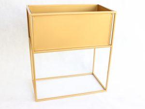 kwietnik LOFT z donicą kolor złoty wys 50 cm