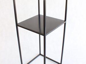 kwietnik czarny loft z półeczką 60 cm